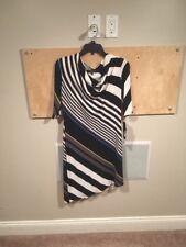 Nine West Asymetrical Cowl Neck Stripe Dress