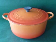 Le Creuset Volcanic Orange - Round D - Casserole Dish