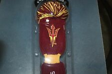 ARIZONA STATE SUNDEVILS Pom Pom Driver Headcover   NCAA Licensed Product