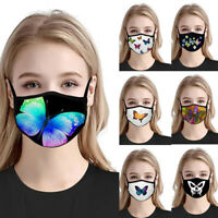 Fashion Women Butterfly Pattern Anti Haze Breathable Half Face Cover Mouth Mask