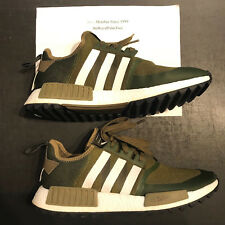 Adidas NMD Trail PK x White Mountaineering Olive White Size 11.5 US CG3647 USED