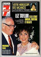 ►TELE 7 JOURS 1465/1988 - LIZ TAYLOR - DOROTHEE - ILE DE PAQUES -