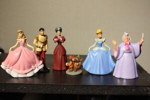 Disney Store PVC Figures Cinderella - Mice Prince Fairy Godmother Stepmother