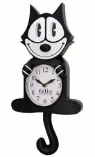 Felix The Cat Motion Wall Clock 3D Pendulum Eyes Tail Swing