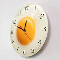 Wall Clock,Breakfast Food Poached Egg Dining Room Wall Watch,Fried Egg Kitchen