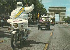 RARE / CARTE POSTALE - MICHELIN BIBENDUM ARRIVEE DU TOUR DE FRANCE VELO POSTCARD