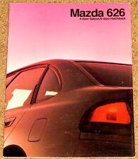 1992 MAZDA 626 Sales Brochure - Saloon & Hatch 2.5i GT, 2.0i GLX, 1.8i GLX