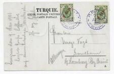 Russische Post in der Levante 1908 - Ansichtskarte Smyrna nach Homberg/Kassel