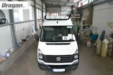 To Fit Volkswagen Crafter 2017+ BLACK Stainless Steel Roof Spot Light Bar + LEDs