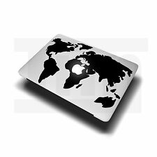 "Adesivo Decalcomania Mappa Mondo per Apple MacBook Air/Pro Laptop 13"" 15"""