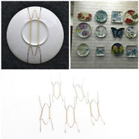 5x Plate Wire Hanging White Hanger Flexible With Spring Wall Display&Art DecoTDO