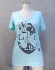 New Volcom Arch Tight Blue Women's Top Classic Top T Shirt WTSH-58