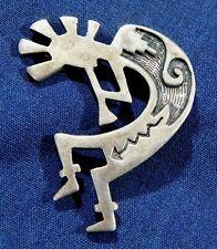 Manufactured Vintage Kokopelli Pin Native American Design Cast Sterling