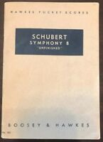 Vintage Schubert Symphony 8 Boosey & Hawkes No. 183 Pocket Scores (AB)