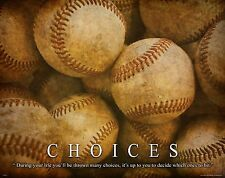 Baseball Motivational Poster Art Print 11x14 Shoes Gloves Little League  MVP379
