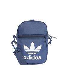 adidas Festival Bag Trefoil Night Marine kleine Umhängetasche Blau Weiß