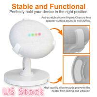 For Google Home Mini Smart Speaker Desktop Holder Pedestal Stand - White