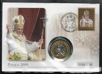 herrlicher Medaillenbrief Papst Benedikt XVI.-  Ostern 2009 Auferstehung Christi