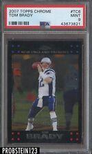 2007 Topps Chrome Tom Brady New England Patriots PSA 9 M INT