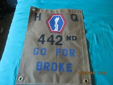 WWII US ARMY ALL JAPANESE 442 ND  REGIMENT COMBAT TEAM GO FOR BROKE FLAG