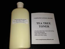 TEA TREE OIL SKIN TONER ACNE ECZEMA HERPES WARTS 12 oz athletes foot witch hazel