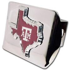 Texas A&M Chrome Metal Hitch Cover - Maroon State Logo Aggies Trailer Cap MVP