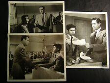 1955 Glenn Ford Trial VINTAGE DBW 3 Movie PHOTO LOT 406H
