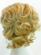 Curly Mini Fall Clip On Wiglet Pull-Thru Piece Thinning Hair Integration Bangs