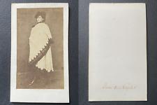 La Reine de Naples, Marie-Sophie de Bavière en costume sicilien vintage cdv albu