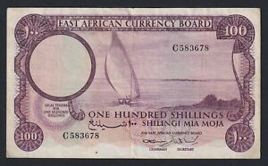 East African 100 shillings 1964 BB/VF  C-09