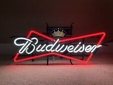 Local Pickup Budweiser Neon Led Man Cave Garage Electric Bar Light Sign