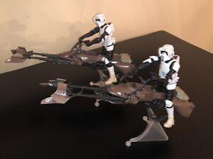 Hasbro Star Wars The Black Series Speeder Bike W/ Scout Trooper Lot Of 2 ROTJ