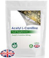 High Potency Acetyl L-Carnitine 500mg - 30/60/90/120/180 Tablets ALCAR - UK (V)