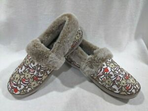 Skechers Bobs Women's Too Cozy Two Cuties Taupe/Multi Slippers-Size 7/8/9/10 NWB