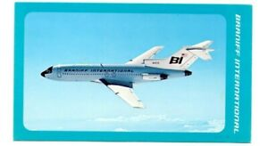 Postcard Branniff International Boeing 727C Fastback Tri Jet BI1