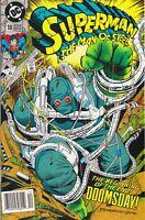 SUPERMAN MAN OF STEEL #18. NM/MINT. 1ST APP DOOMSDAY. NEWSSTAND 1ST PRINT