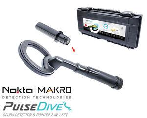Nokta | Makro PulseDive schwarz Unterwasser Metalldetektor & Pinpointer
