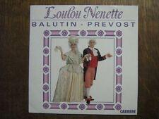 DANIEL PREVOST JACQUES BALUTIN 45 TOURS FRANCE LOULOU