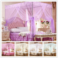 No Frame Lace Canopy Mosquito Net Princess Bedding for Twin Full Queen King Size