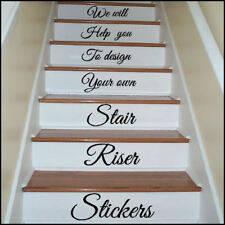 Design your own stair riser stickers / transfer  You choose Font Style Quotes