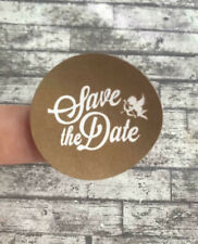 20 Wedding Stickers, Save The Date! 35mm, Wedding Invitations, Wedding Invites