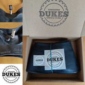 """Dukes C-FS 20 x 4"""" Fat Tyre Bike Innertube captive nut Schrader valve (UK STOCK)"""
