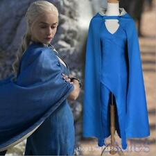 Game of Thrones Daenerys Targaryen Blue Dress Costume Halloween Cosplay S-2XL
