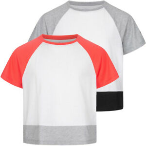 ASICS Colorblock Oversized Mädchen Kinder T-Shirt 2034A090 weiß mehrfarbig neu