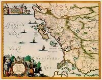 Albania Greece - Jansson 1654 - 23.00 x 29.54