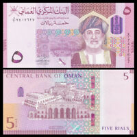 Oman 5 Rials, 2020/2021, P-New, New Design,Hybrid Polymer,UNC