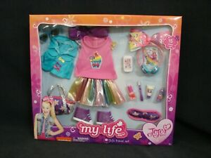 JOJO SIWA Travel Set NEW WALMART EXCLUSIVE 2018 My Life JoJo Doll Clothes 18""