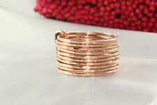 10k solid gold ring~Designed Ring~Nature Stacking ring~10 ring set~fine~SJR0666