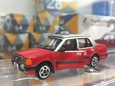 """1:64 Tiny HK City Taxi Toyota Crown """"5 Seat"""" Red Colour Comfort Taxi New!"""