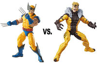 Marvel Legends ~ WOLVERINE vs. SABRETOOTH ACTION FIGURE SET ~ X-Men Series 3
